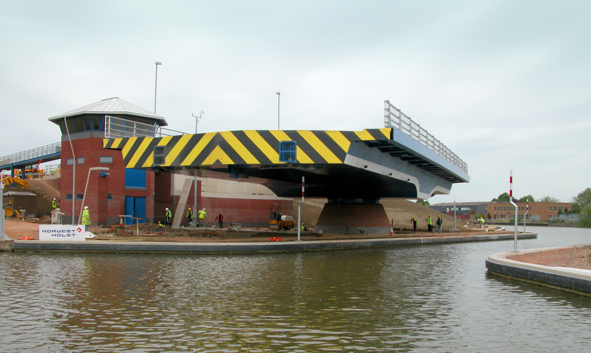 Netheridge Bridge, road swing bridge over Gloucester and Sharpness Canal, South West Bypass | Gloucester