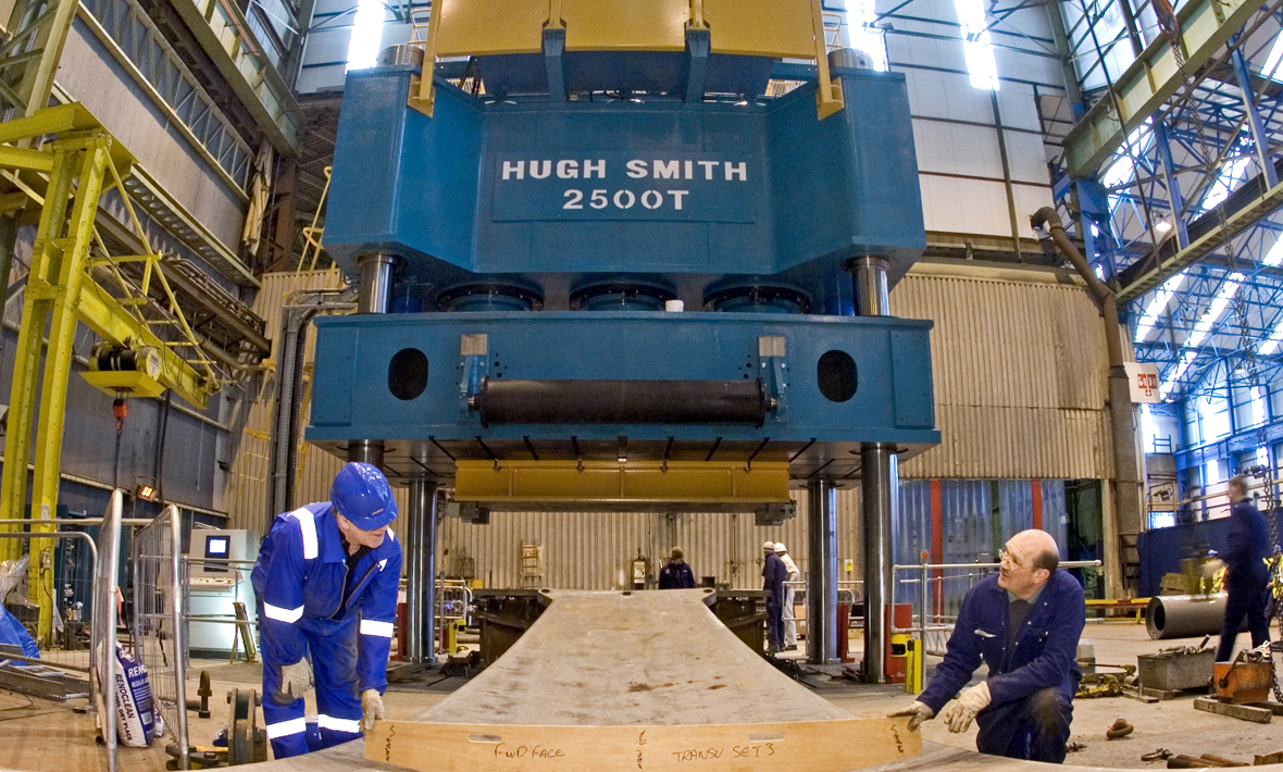 2500 tonne dome press for the use in the manufacture of nuclear submarines | BAE Systems Barrow