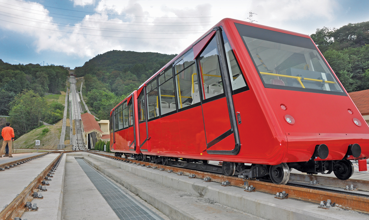 Installation of funicular railway system | South Korea