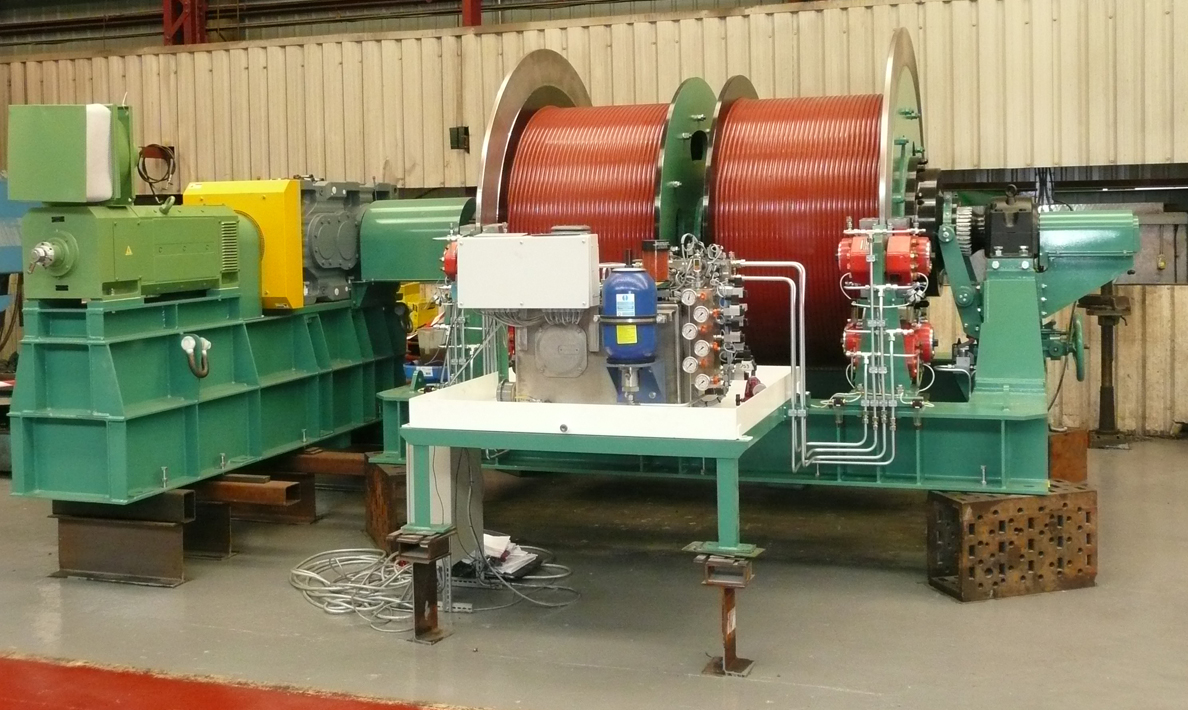 Double drum hoist on final assembly in Qualter Hall works | Morocco