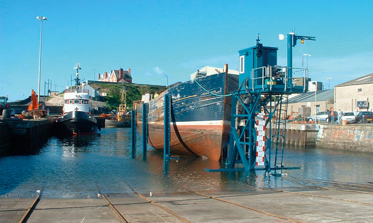 Slipway carriage and winching system | Kilkeel Harbour