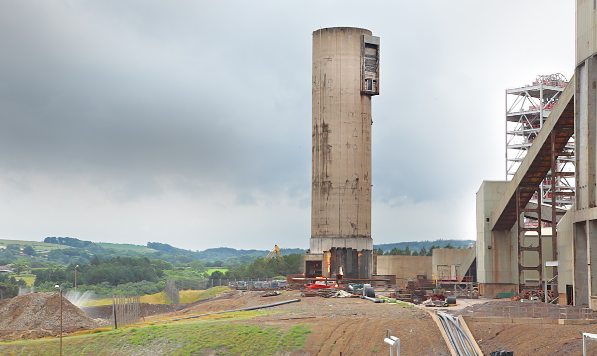 Cleveland Potash, demolition of old tower | Boulby Mine