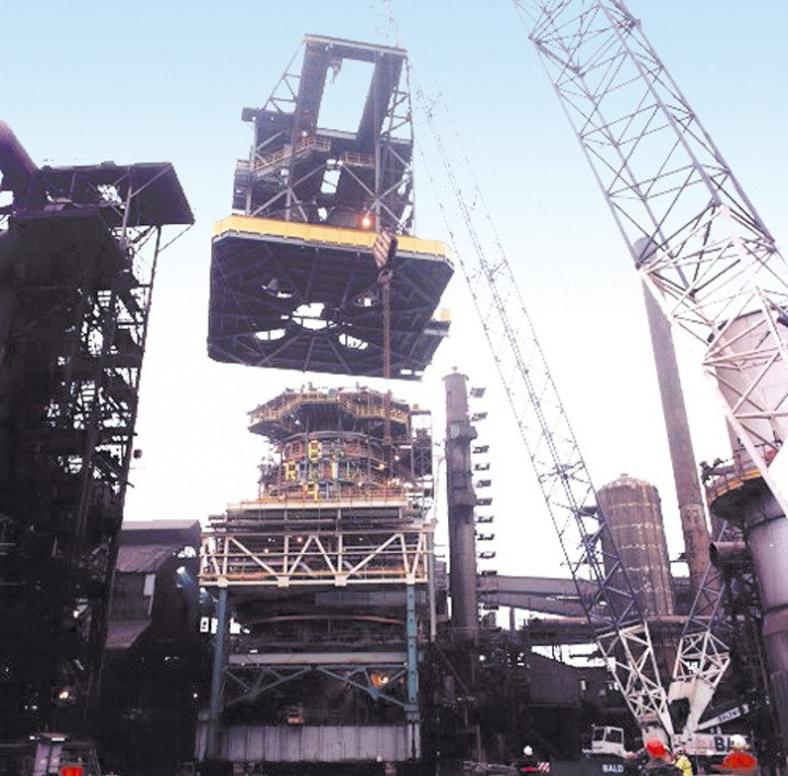 Installation of blast furnace top structure | Scunthorpe